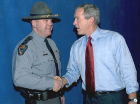 Lt. Matt Gurwell and George W. Bush